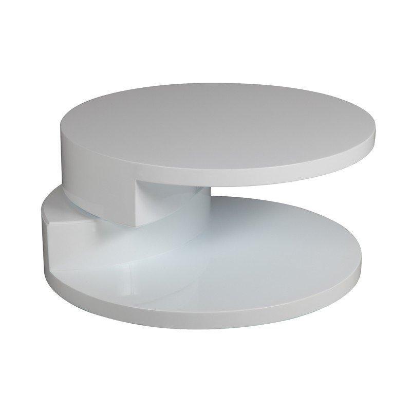 Table Basse Ronde Design Azur Blanche