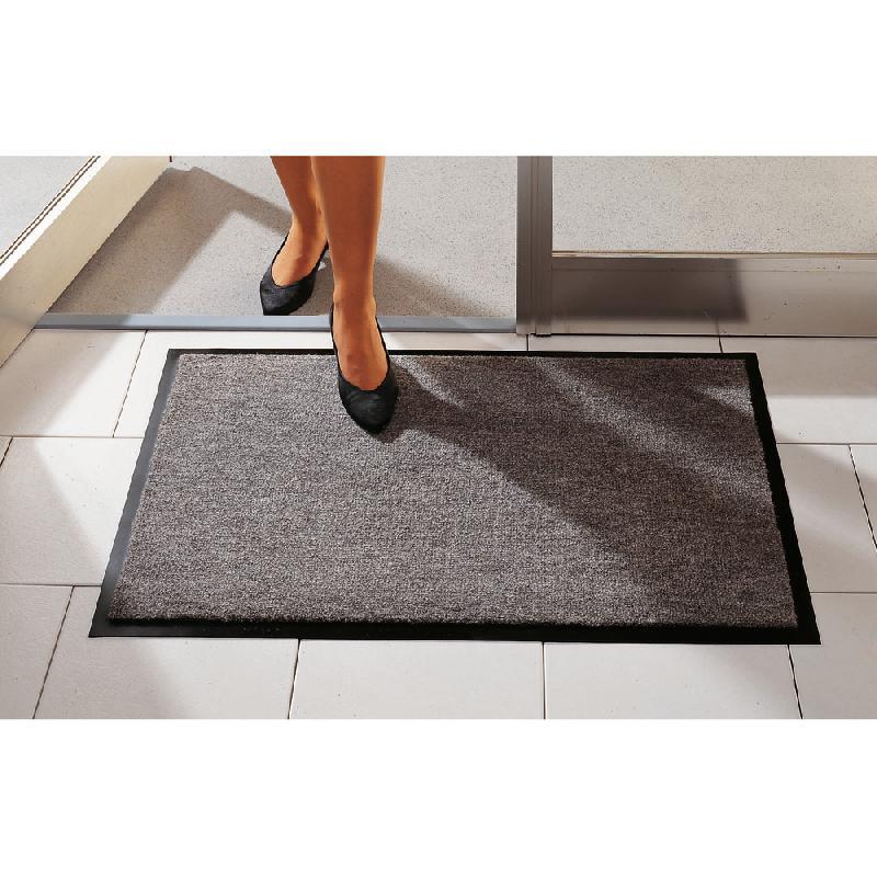 tapis d 39 accueil absorbant classic 0 60 x 0 90 m gris comparer les prix de tapis d 39 accueil. Black Bedroom Furniture Sets. Home Design Ideas