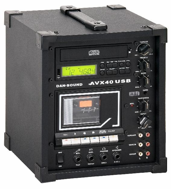 LECTEUR K7/CD DAN SOUND AVX-40 USB COMBI 17 WATTS