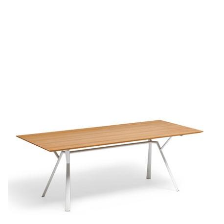 table de jardin radice quadra table teck 200 x 90 cm. Black Bedroom Furniture Sets. Home Design Ideas