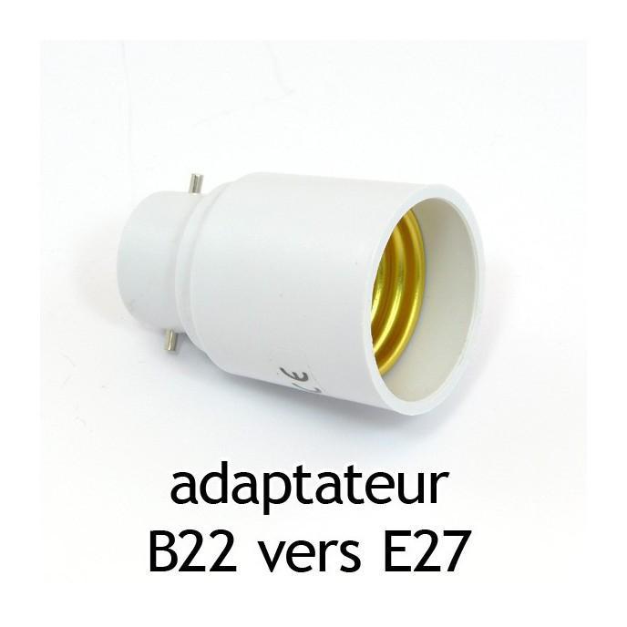 adaptateur culot b22 vers e27 vision el comparer les prix de adaptateur culot b22 vers e27. Black Bedroom Furniture Sets. Home Design Ideas