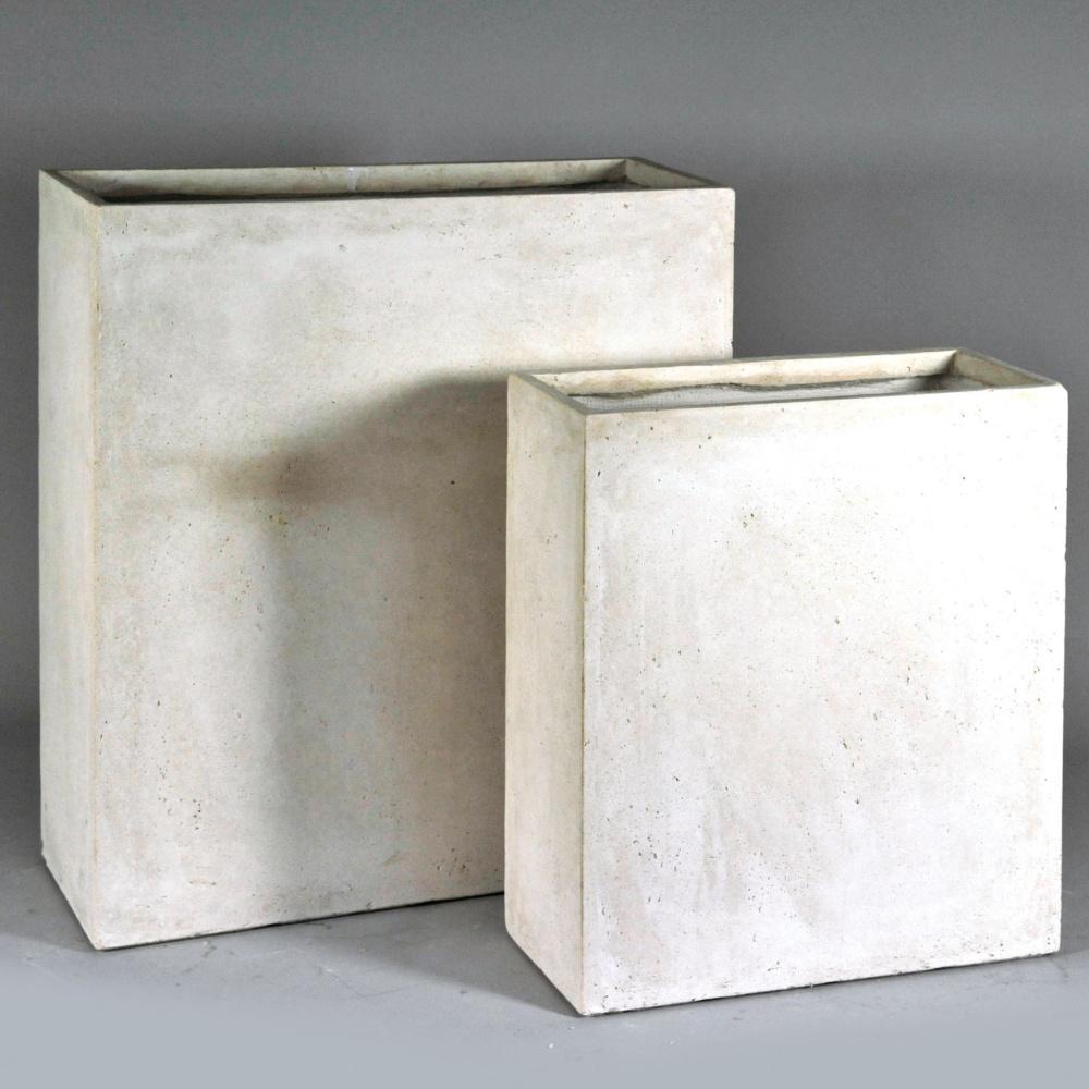 bac a fleurs fibre de terre clayfibre l80 h92 cm blanc ref. Black Bedroom Furniture Sets. Home Design Ideas