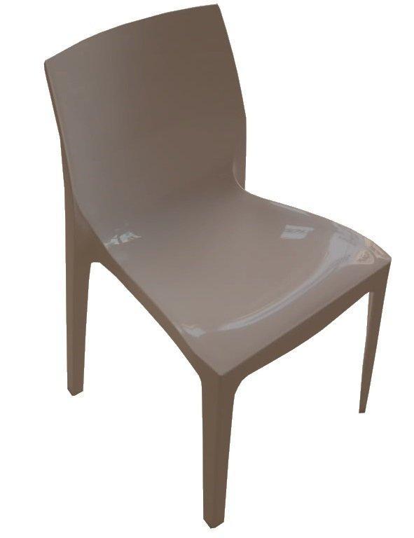 lot de 2 chaises haut de gamme falena empilables taupe brillant. Black Bedroom Furniture Sets. Home Design Ideas