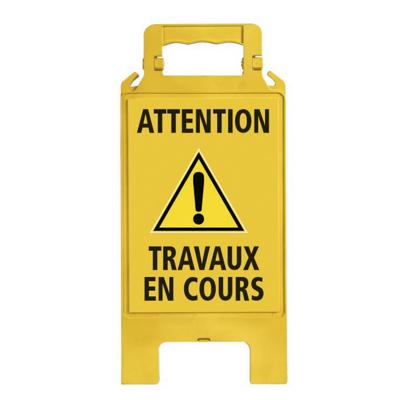 CHEVALET DE SIGNALISATION ATTENTION TRAVAUX EN COURS