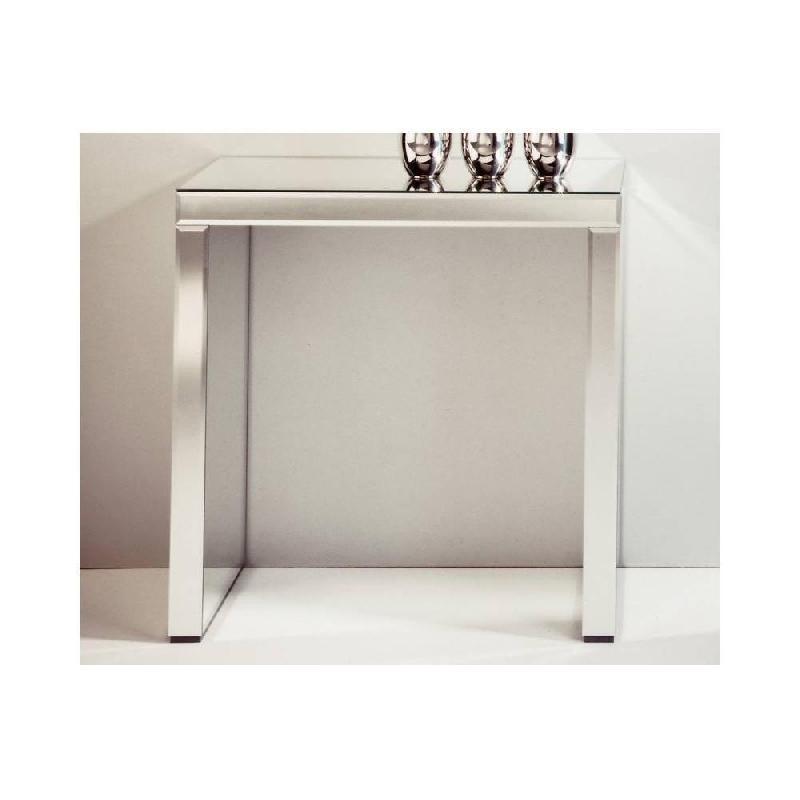 Keops Table Console En Verre Miroir Petit Modèle Comparer Les Prix