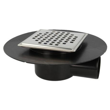 siphon de sol pour douche l 39 italienne sortie horizontale cube comparer les prix de siphon de. Black Bedroom Furniture Sets. Home Design Ideas