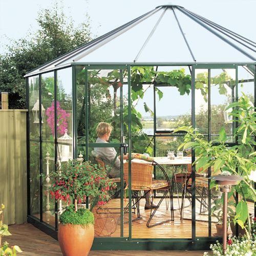 jardin d 39 hiver hera aluminium laque vert 2 dimensions. Black Bedroom Furniture Sets. Home Design Ideas