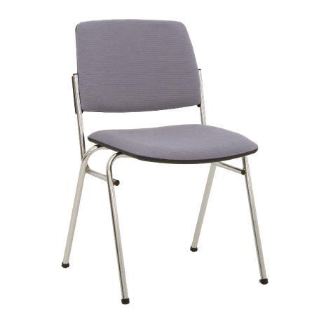 Siège visiteur, chaise de conférence isit chrome grise