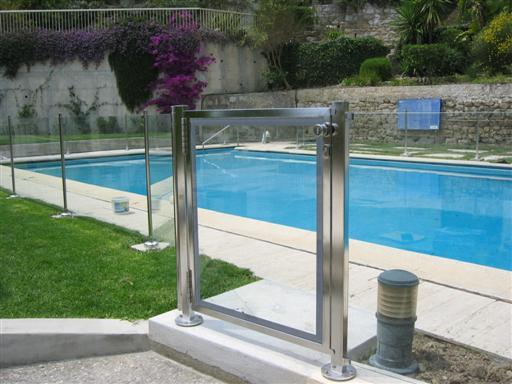 Bordure piscine aquatic inox verre 2 for Barriere piscine verre prix