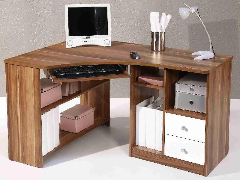 bureau d 39 angle informatique angle gauche tanga noyer. Black Bedroom Furniture Sets. Home Design Ideas