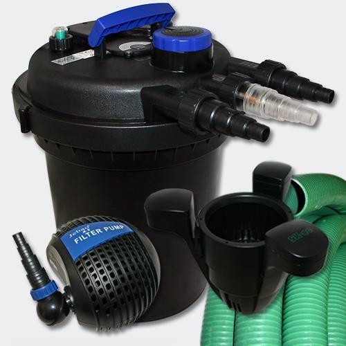 Kit de filtration à pression 6000l uvc 11w pompe tuyau ecumeur 40 4216182