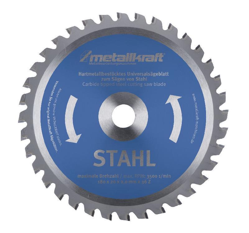 Lames de scie circulaire tct metallkraft 3850231