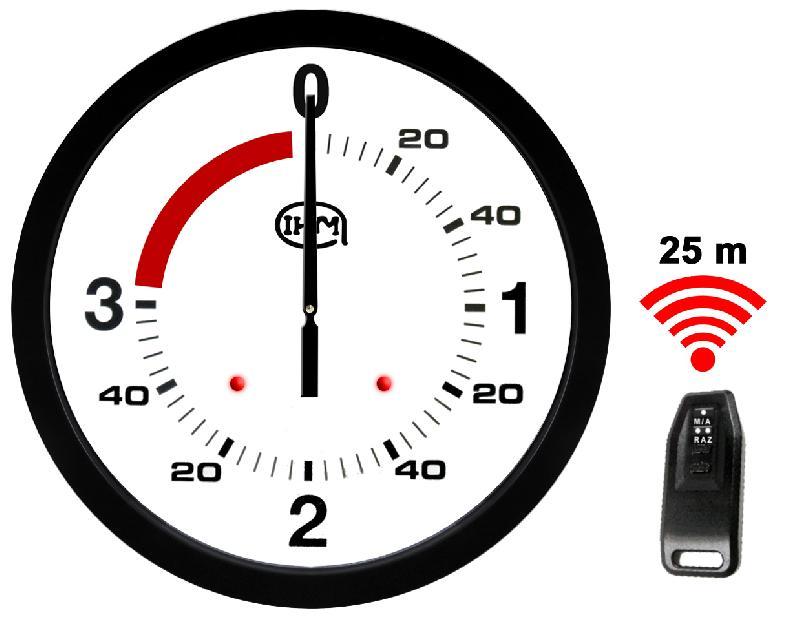 Pendule 600mm - boxe anglaise 3'+1' - télécommande #0646b8v2/ti