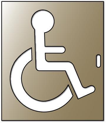 Pochoir fauteuil roulant promo