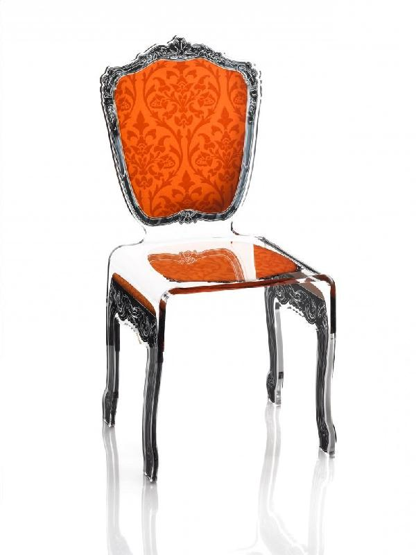 baroque chaise en plexi orange acrila design. Black Bedroom Furniture Sets. Home Design Ideas