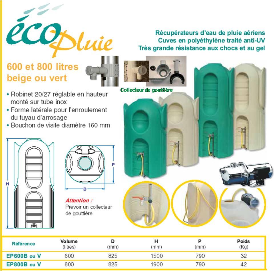 Recuperateurs d 39 eau de pluie exterieur tous les fournisseurs recupera - Recuperateurs d eau de pluie ...