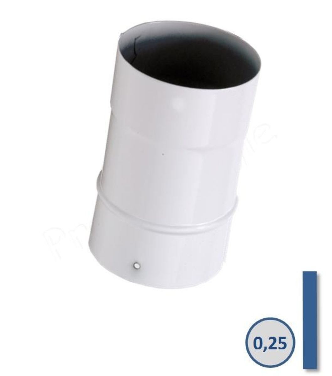 TUYAU EMAIL BLANC - L 25 CM - Ø 153 MM