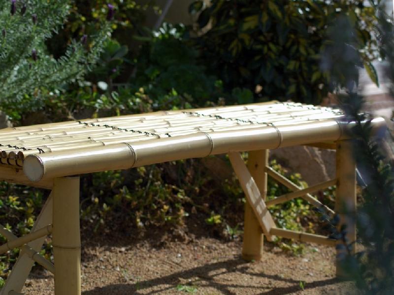 banc pliant en bambou. Black Bedroom Furniture Sets. Home Design Ideas