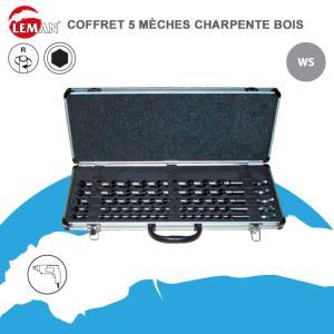 COFFRET 5 MECHES A BOIS LONGUEUR 450 MM