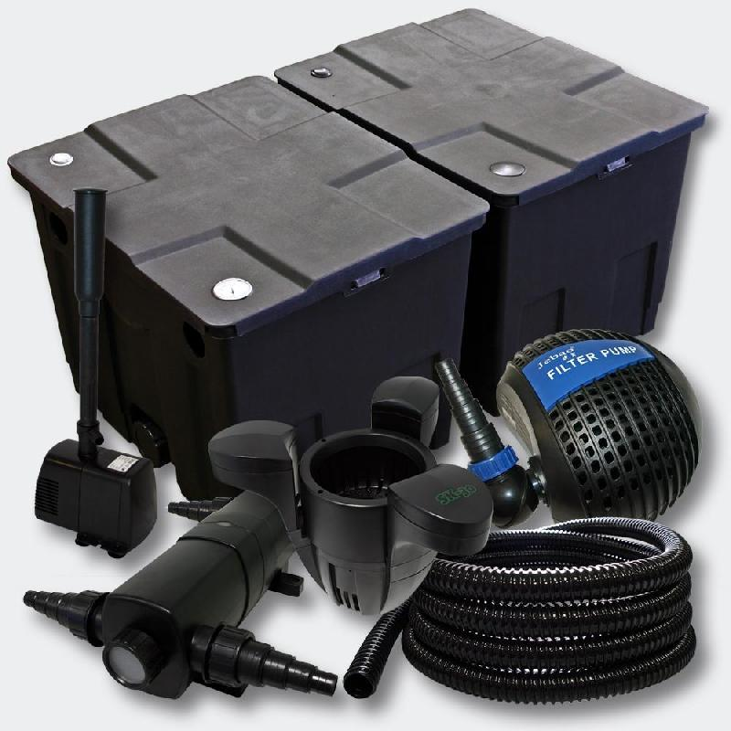 Kit de filtration de bassin bio filtre 60000l uvc 18 watts fontaine 4216510