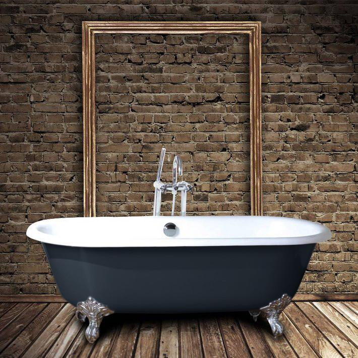 baignoire ancienne en fonte plymouth grise 153 cm pieds chrom s comparer les prix de baignoire. Black Bedroom Furniture Sets. Home Design Ideas