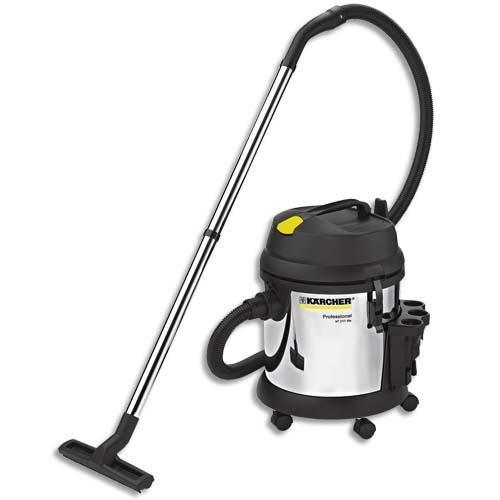 Karcher aspirateur eau et poussière pro nt27/1 me 1380 watts, dépression 20 kpa, capacité 27 litres 72db