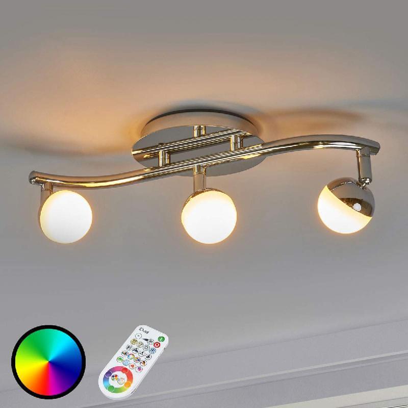 Plafonnier led olivine à 3 lampes télécommande