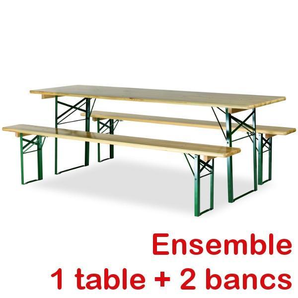 Ensemble Bancs Et Table De Brasserie Avec Pieds Profilés