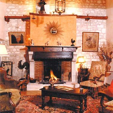 cheminee rustique montigny ref 110. Black Bedroom Furniture Sets. Home Design Ideas