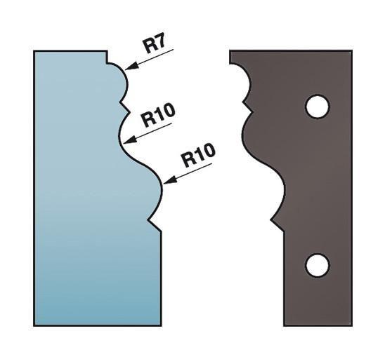 40 x 4 mm quart de rond multiples M22 pour porte-outils de toupie Diamwood Platinum Jeu de 2 fers profil/és Ht Diamwood Platinum