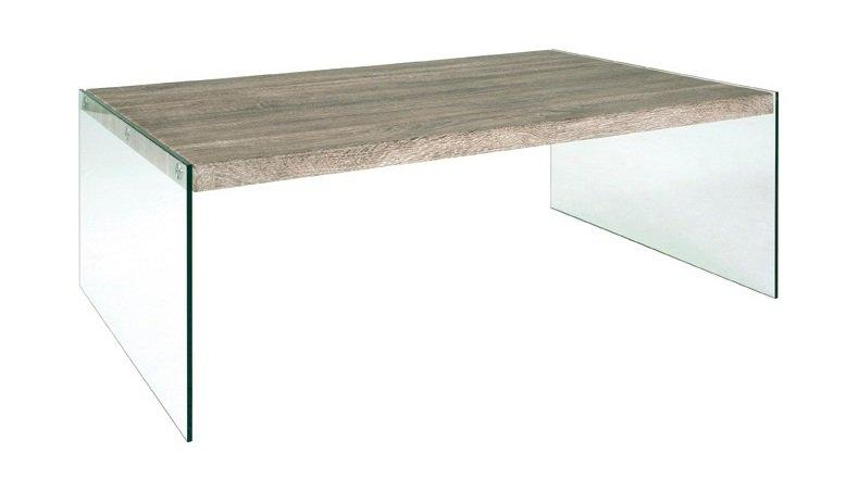 Table basse grise et verre for Table basse fer forge et verre