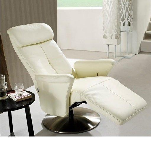 adam fauteuil relax cuir vachette blanc. Black Bedroom Furniture Sets. Home Design Ideas