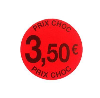 étiquette adhésive  3.50eur prix choc