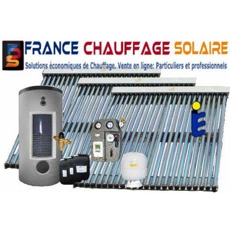 Capteur solaire 18 tubes sous vide caloduc cpc max for Chauffe eau solaire sous vide