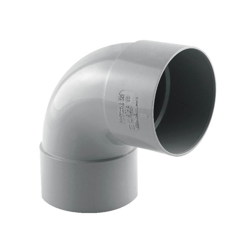 COUDE GOUTTIÈRE 87° FF PVC 80 GRIS - INTERPLAST