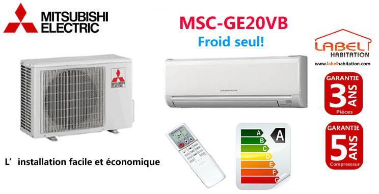 KIT CLIMATISEUR MURAL FROID SEUL MSC-GE20VB