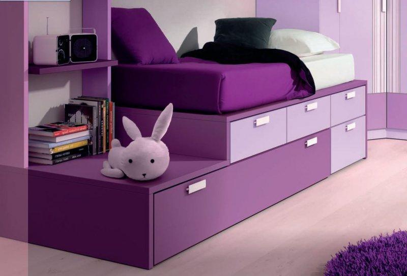lit gigogne compact iberis avec 4 tiroirs et 2 couchages 90 x 190. Black Bedroom Furniture Sets. Home Design Ideas