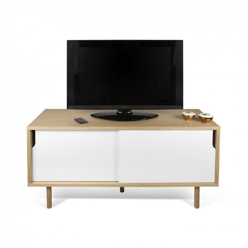Temahome meuble tv dann ch ne avec 2 portes coulissantes for Meuble 2 portes coulissantes