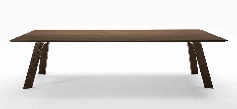 toronto table de reunion 200 x 100 cm bois marron fonce. Black Bedroom Furniture Sets. Home Design Ideas