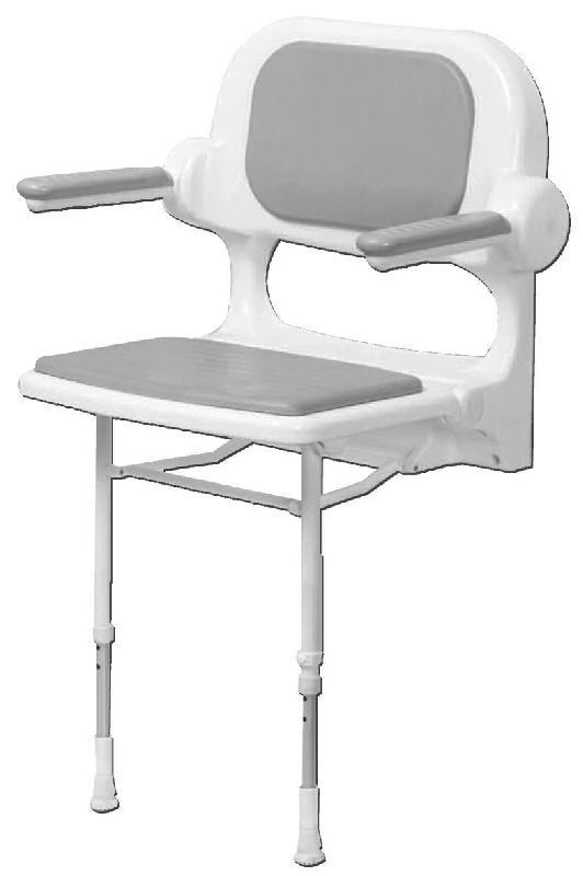 si ge de douche avec dossier et accoudoirs couleurs blanc et gris comparer les prix de si ge. Black Bedroom Furniture Sets. Home Design Ideas