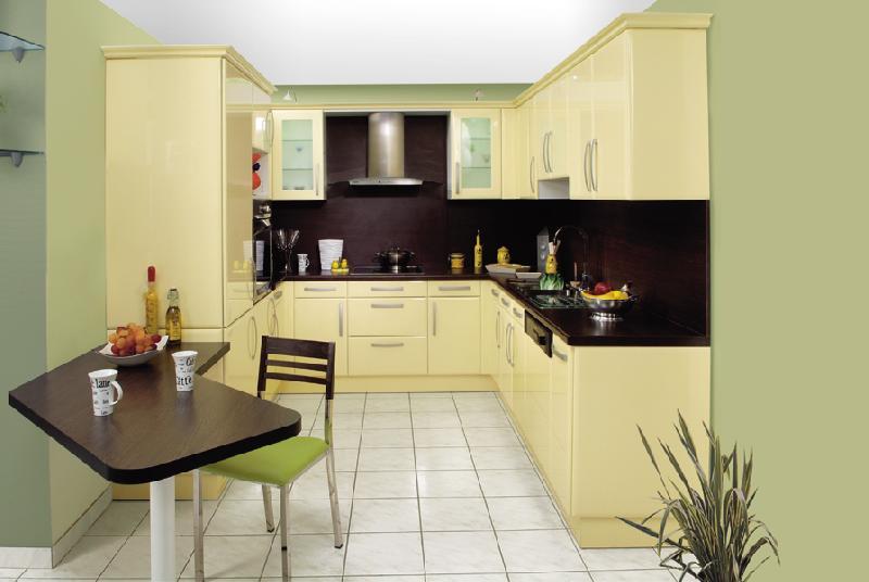 Cuisine jaune vanille belle cuisine nous a fait l 39 aise for Cuisine ouverte jaune