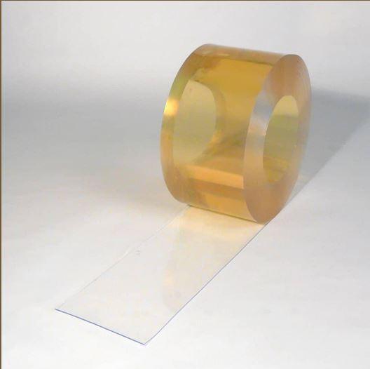 Lanière pvc souple -45° nervuré / transparente / 200 x 2 mm