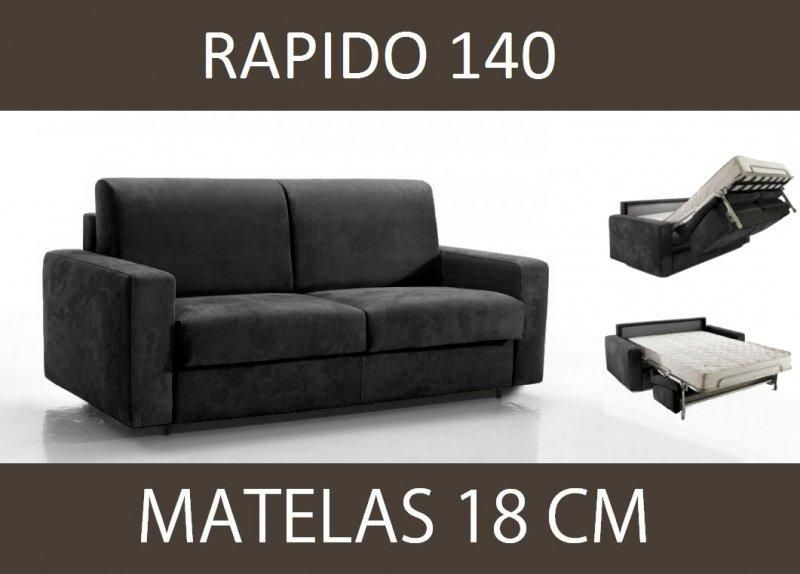 Canape lit 3 places master convertible ouverture rapido for Canape largeur 140