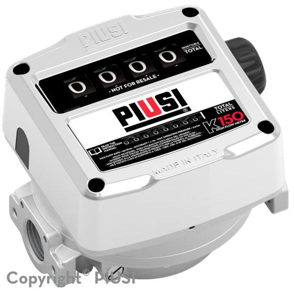K150 atex - débitmètre mécanique carburant - piusi spa - liquide : essence, gasoil, kérozène - débit : de 25 à 150 l/min
