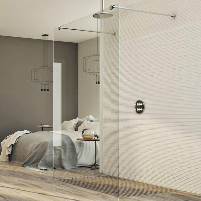 paroi douche 70 cm en verre transparent 8mm mod wak in. Black Bedroom Furniture Sets. Home Design Ideas