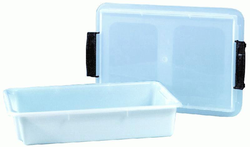 bac rectangulaire plastique empilable avec couvercle transparent plu comparer les prix de bac. Black Bedroom Furniture Sets. Home Design Ideas