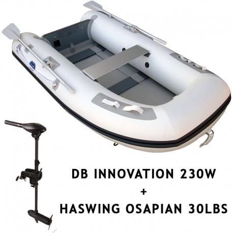 bateaux gonflables a moteur dbi 230w moteur haswing osapian 30lbs. Black Bedroom Furniture Sets. Home Design Ideas