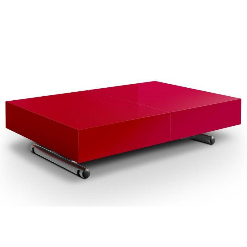 table relevable extensible itaca rouge 12 couverts. Black Bedroom Furniture Sets. Home Design Ideas