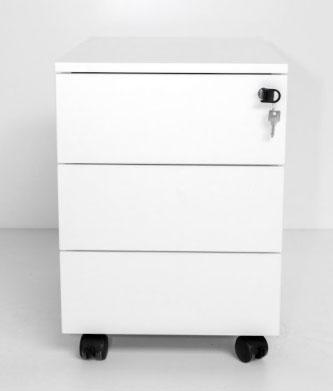 ogi y caisson a roulettes 3 tiroirs blanc. Black Bedroom Furniture Sets. Home Design Ideas