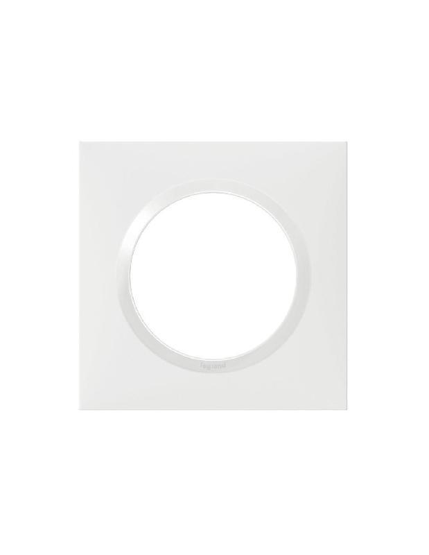 PLAQUE CARRÉE DOOXIE 1 POSTE FINITION BLANC - LEGRAND - 600801